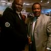 Metcalf with his Pastor Bishop TD Jakes